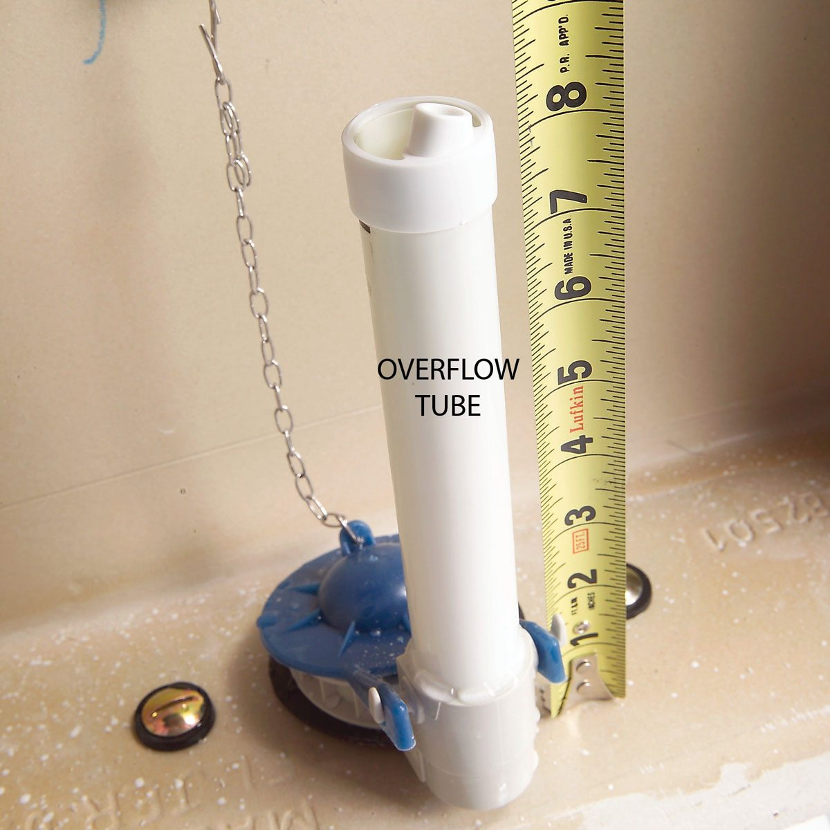Measure the Overflow Tube