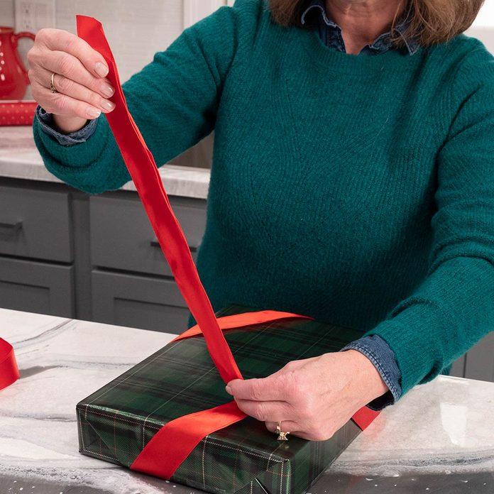 Measure ribbon length bow