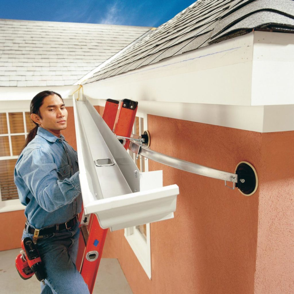 installing gutters