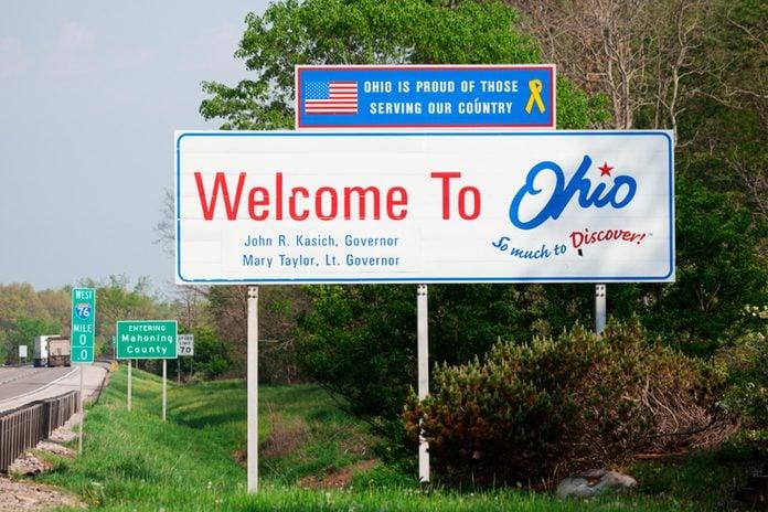 Ohio Welcome Sign