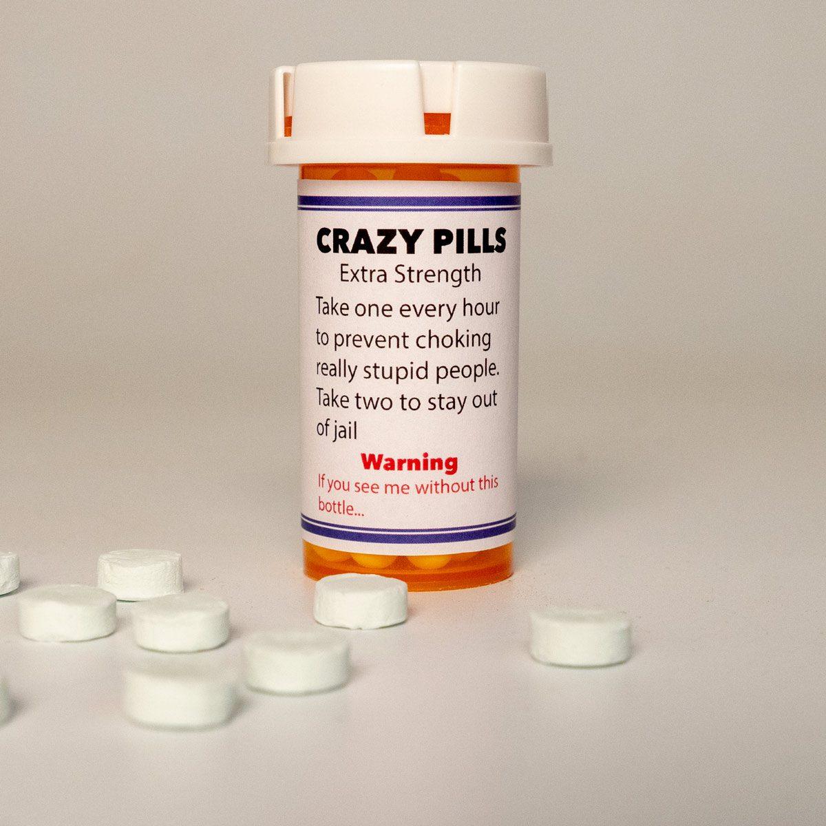 crazy pills DIY white elephant gift