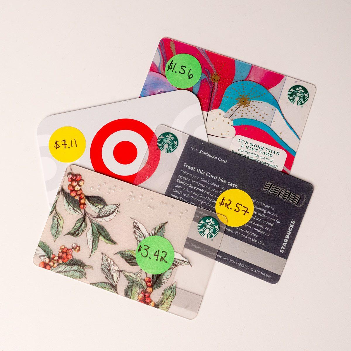 used gift cards white elephant gift