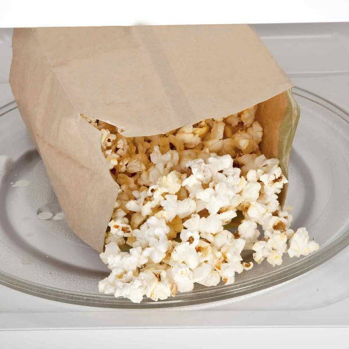 Popcorn-cooked-in-a-microwave-oven-still-in-the-bag