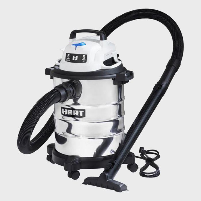 Six Gallon Stainless Steel Tank Wet Dry Vacuum