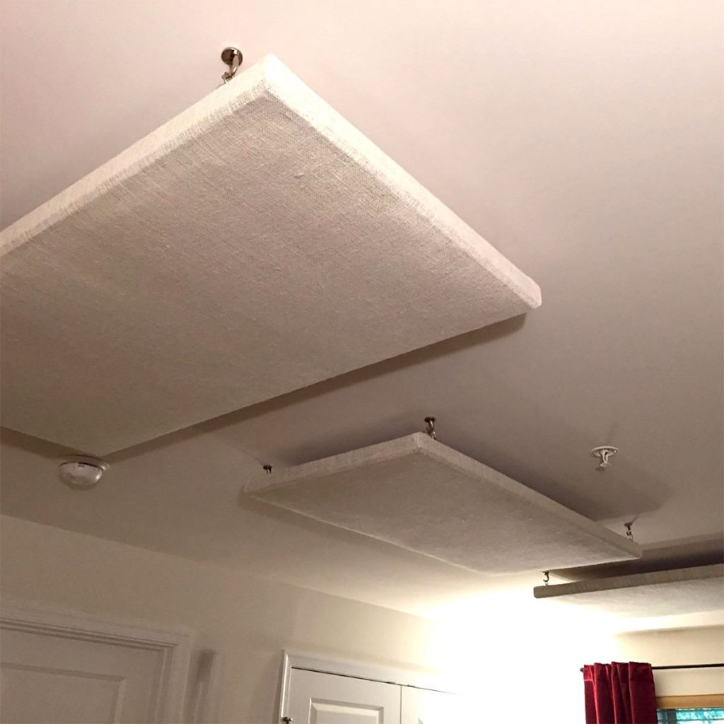 Acoustic Ceiling Panels Hanging from Ceiling