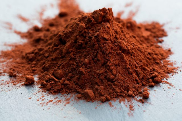pile of cocoa powder on table