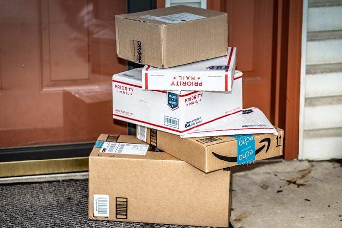 Packages in front of door