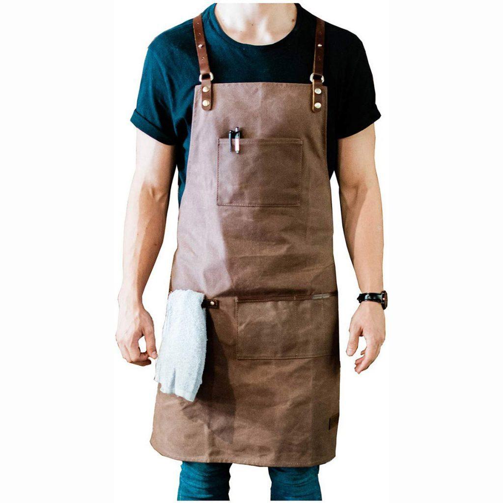 waxed shop apron