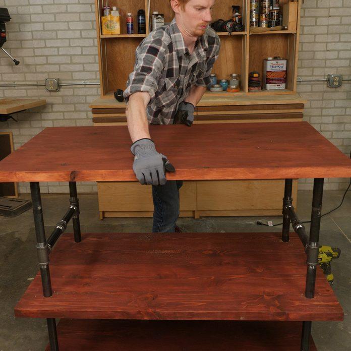 assemble rustic kitchen island