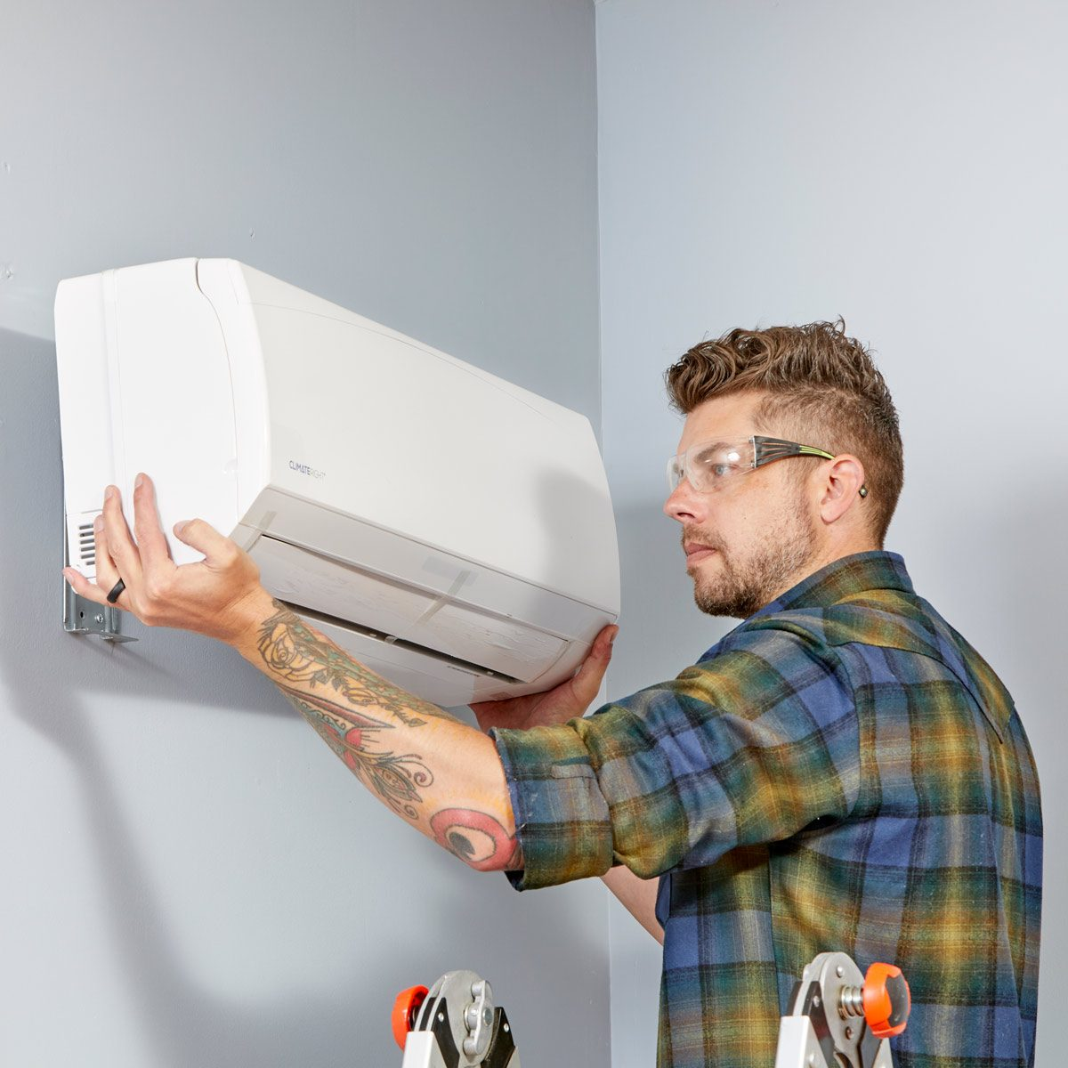 Install a mini split garage heating cooling system