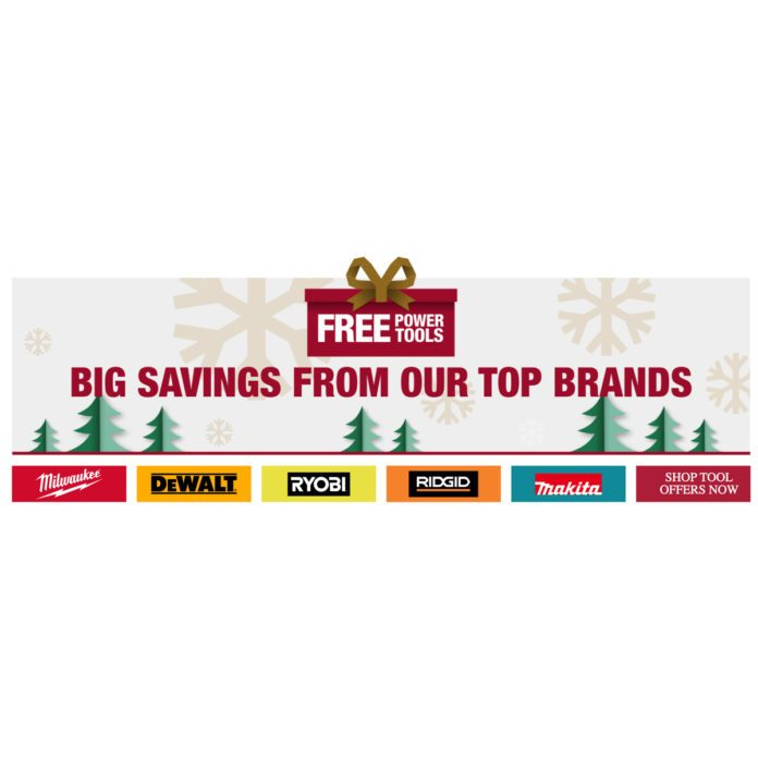Home Depot Is Giving Away Free Power Tools With Amazing Deals on 5 Top Brands