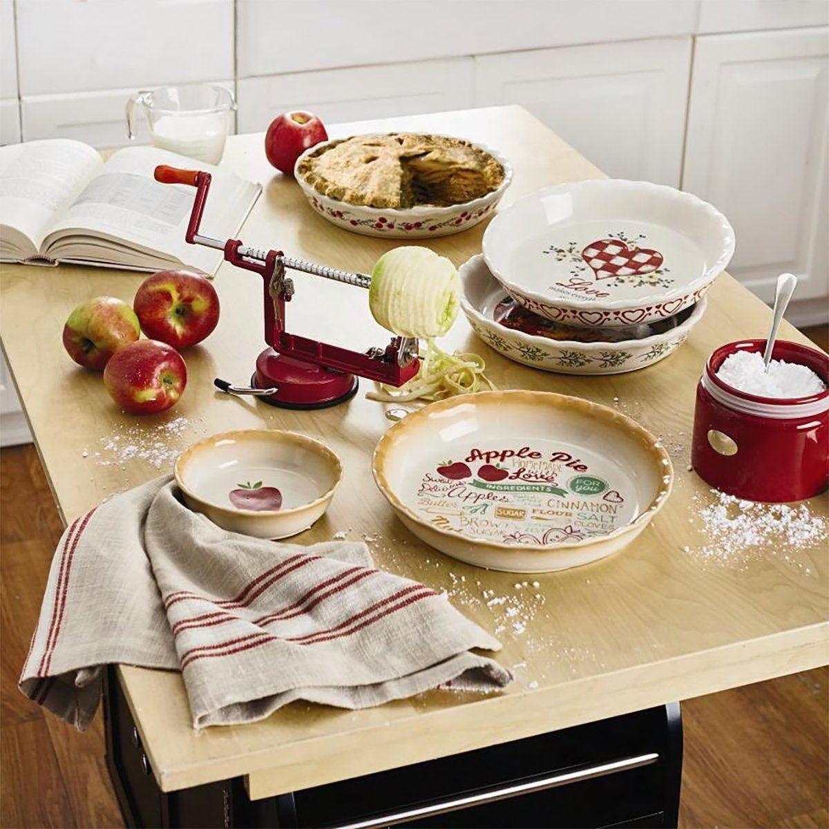 Christmas Tree Shops andThat! apple pie bakeware and tools