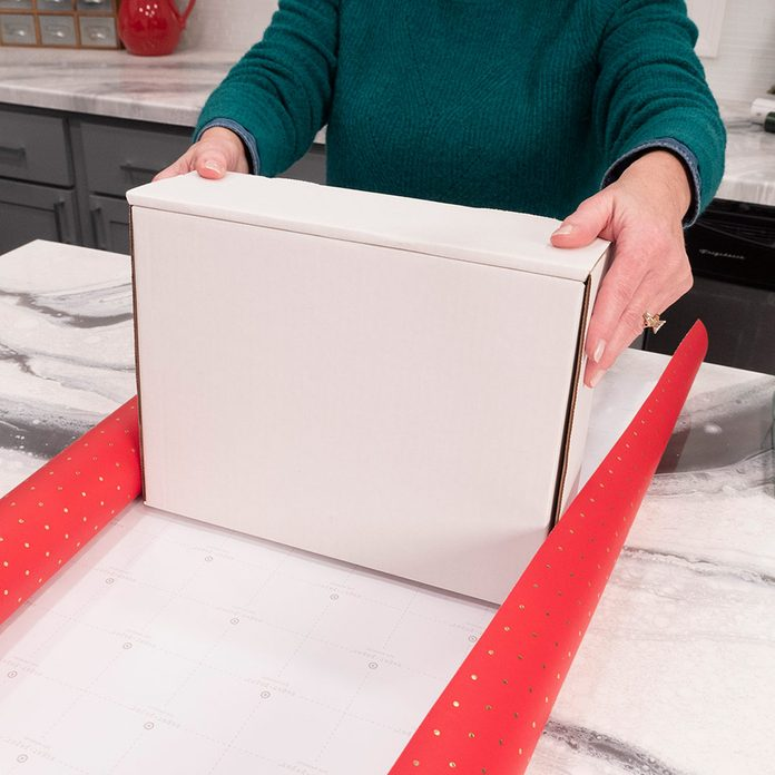 measure out wrapping paper