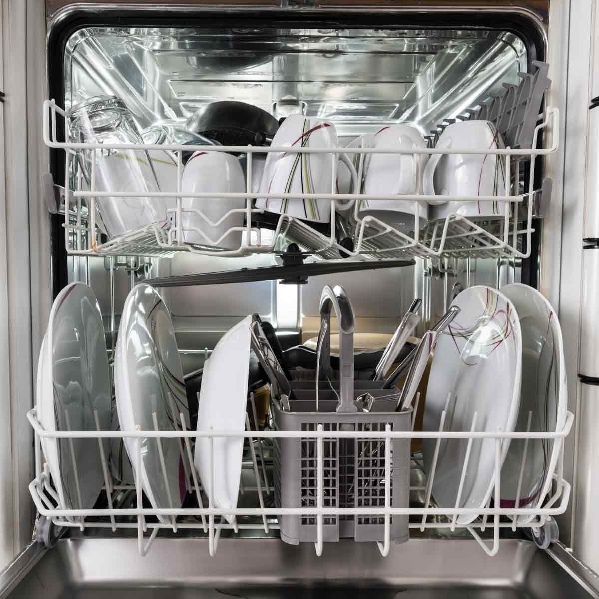 Photo-Of-Utensils-Arranged-In-Dishwasher-In-Kitchen