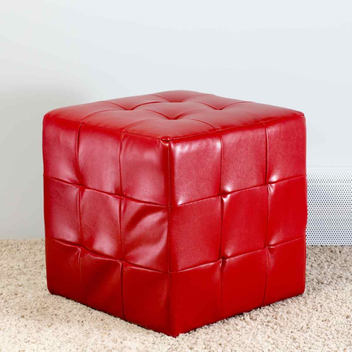 Red-Leather-Cubed-Ottoman