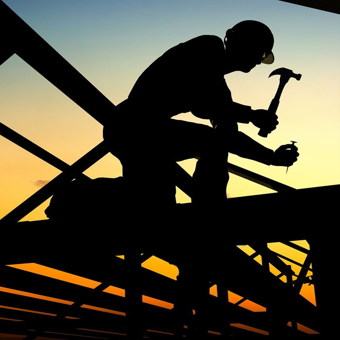 construction worker sillhouette