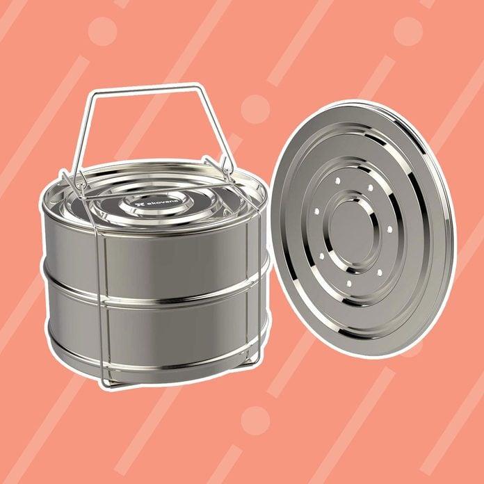 ekovana Stackable Stainless Steel Pressure Cooker Steamer Insert Pans