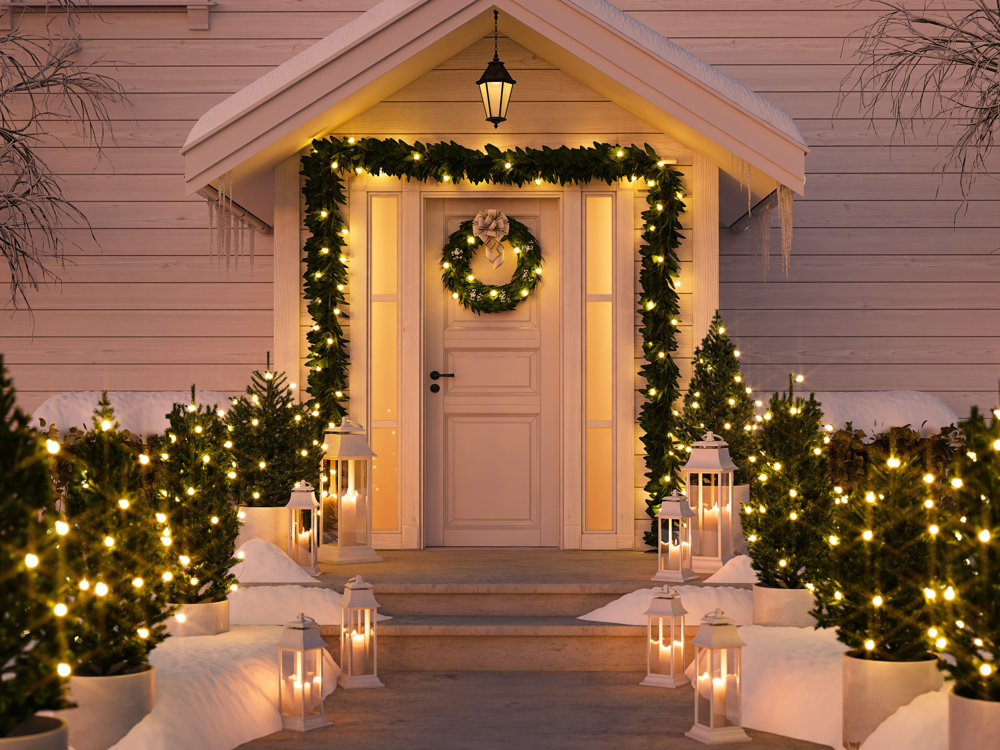 20 Chic Outdoor Christmas Decorations