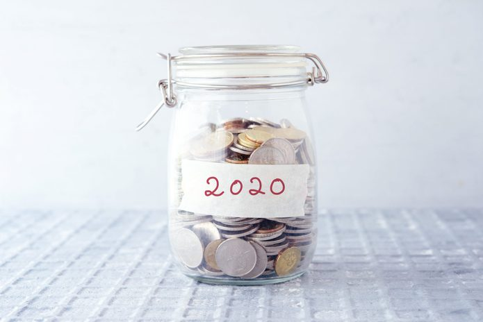 Coins in glass money jar with 2020 label, financial concept.; Shutterstock ID 1365997976; Job (TFH, TOH, RD, BNB, CWM, CM): RD