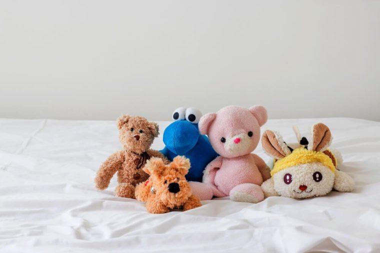 teddy bear and friends (bear , rabbit ,dog )