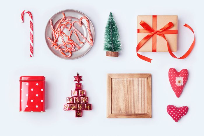 Christmas decorations and objects for mock up template design.View from above. Flat lay; Shutterstock ID 486125407; Job (TFH, TOH, RD, BNB, CWM, CM): RD