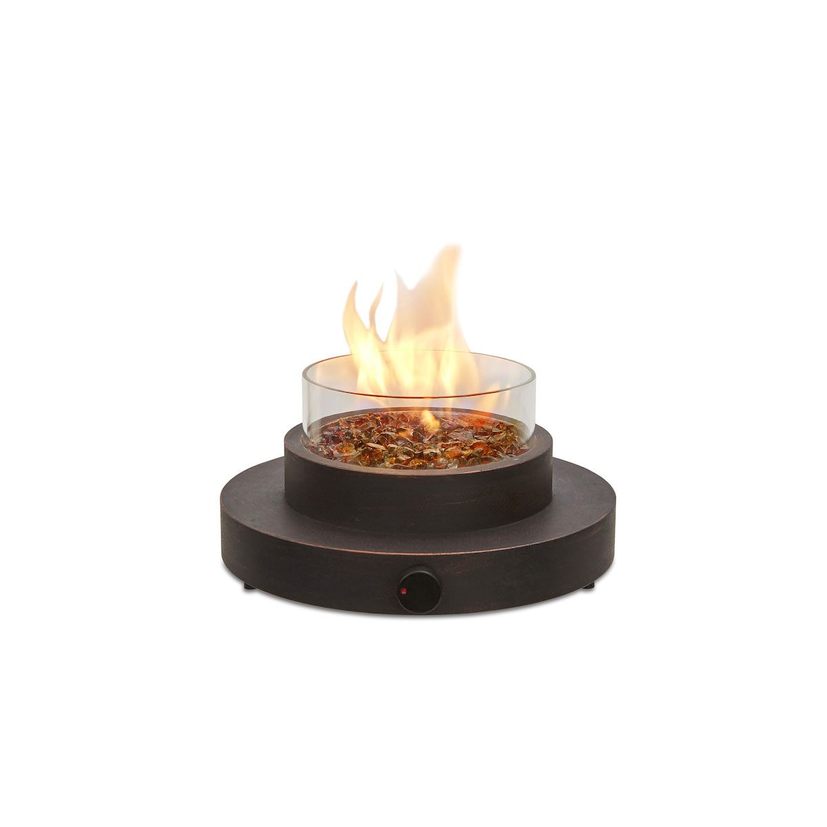 Mini fire pit for table