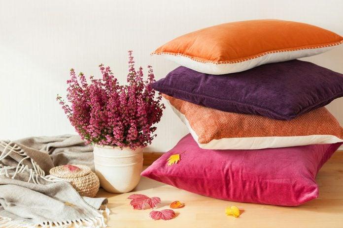colorful cushions throw cozy home autumn mood flower throw pillows