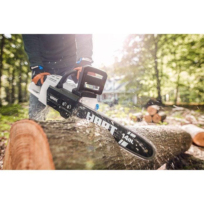 HART 40-Volt Cordless Brushless 14-inch Chainsaw Kit