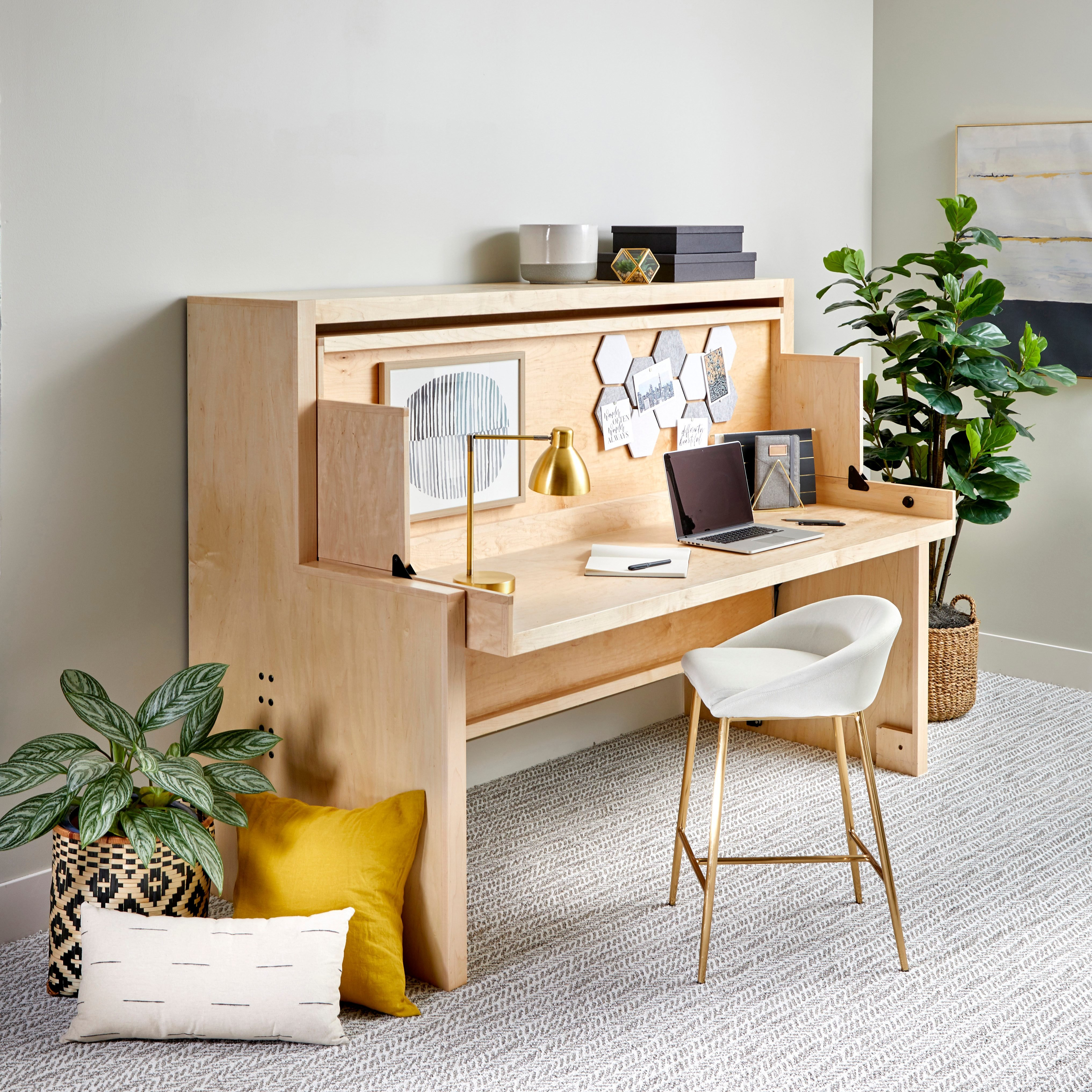 See Family Handyman's Murphy Bed Desk in Action