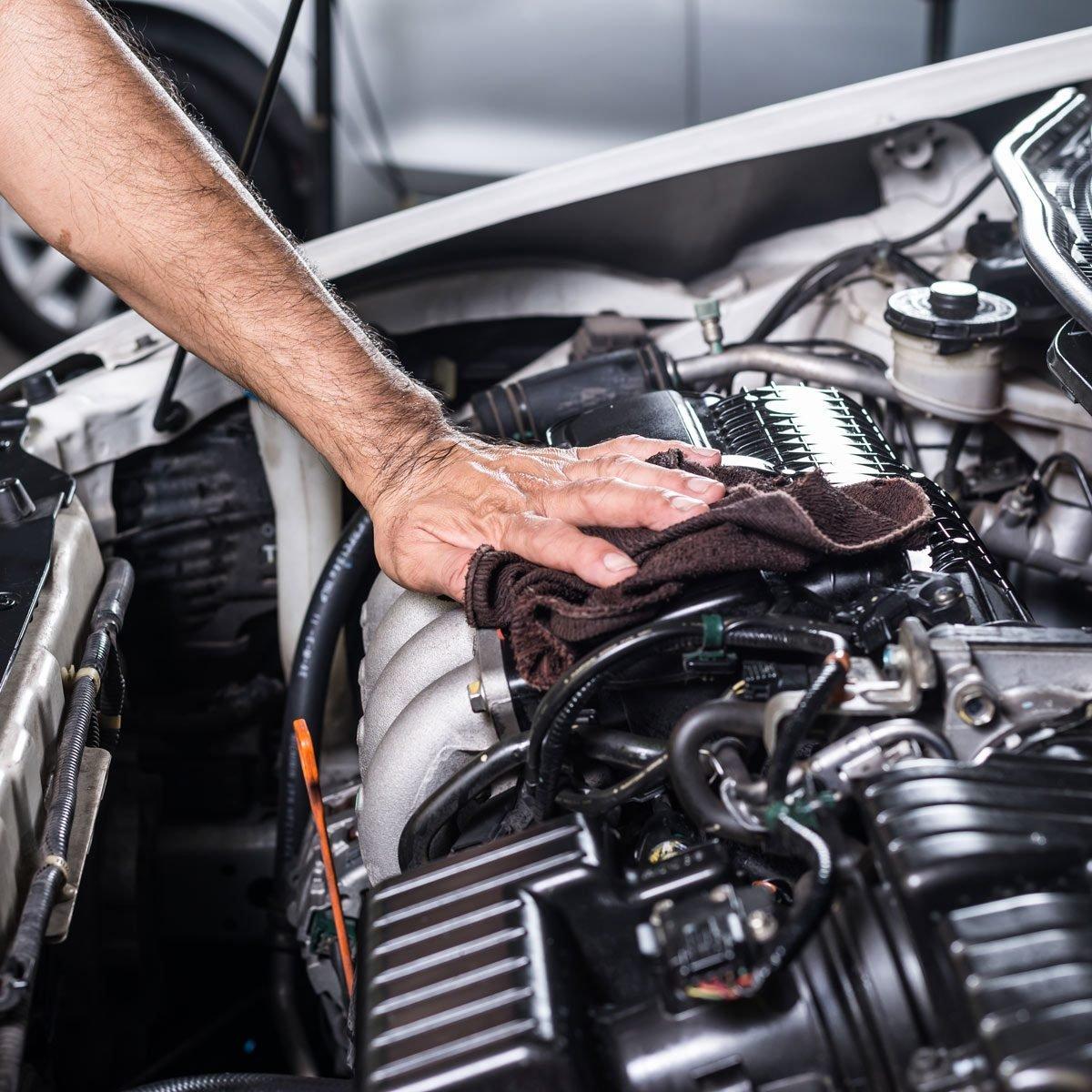 dry car engine