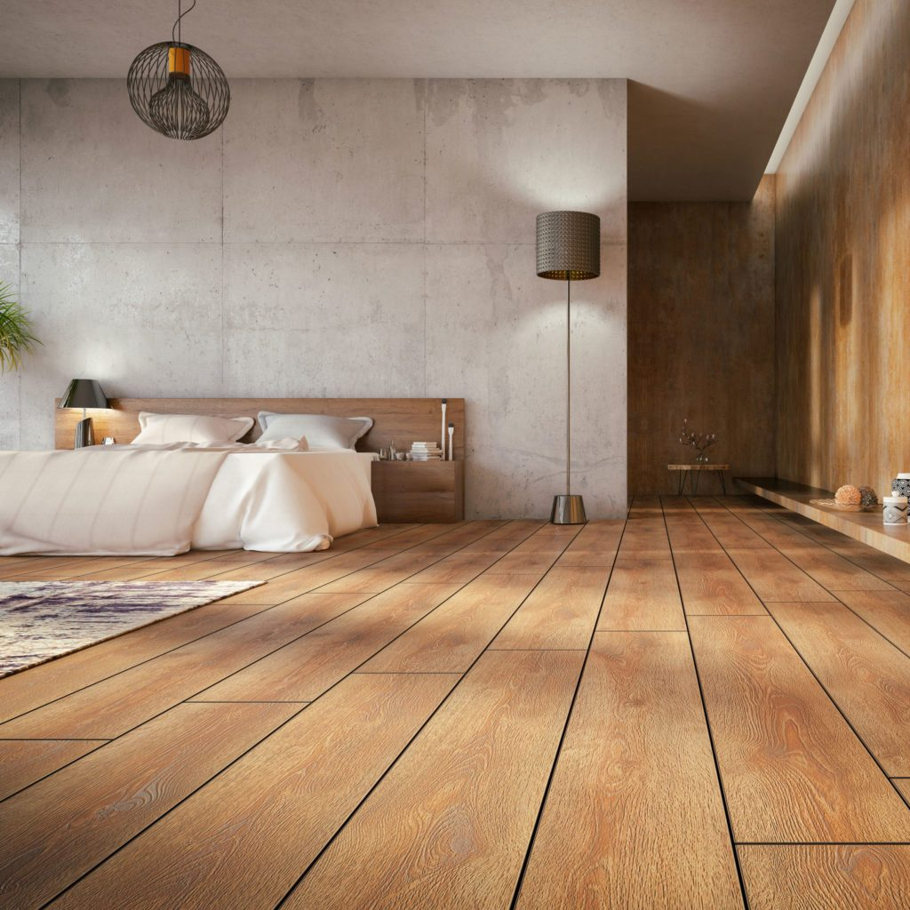 wood floor bedroom