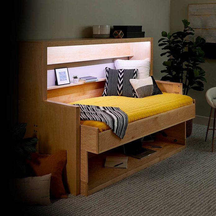 How To Build A Murphy Bed That Easily, Bed With Desk Attached