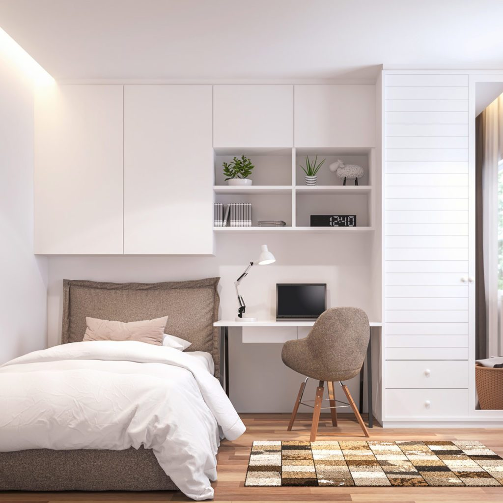 small bedroom storage and organization