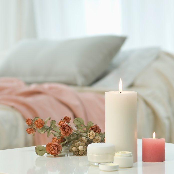 candles in bedroom Gettyimages 455449405