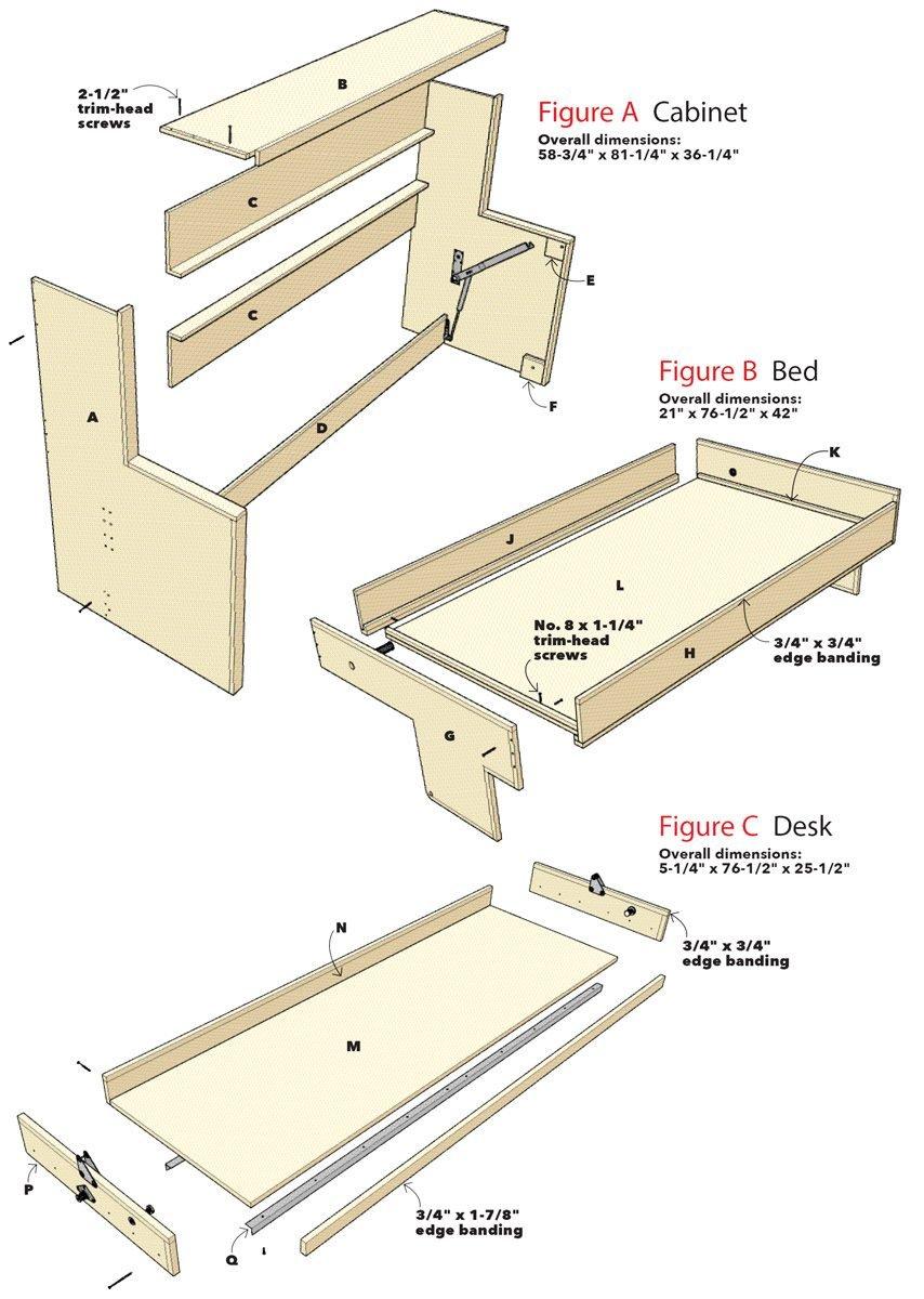 figure drawings murphy bed