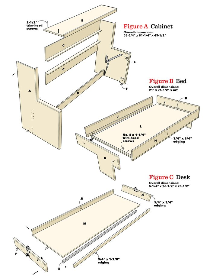 How To Build A Murphy Bed That Easily, How To Build A Murphy Bed With Sofa Free Plans