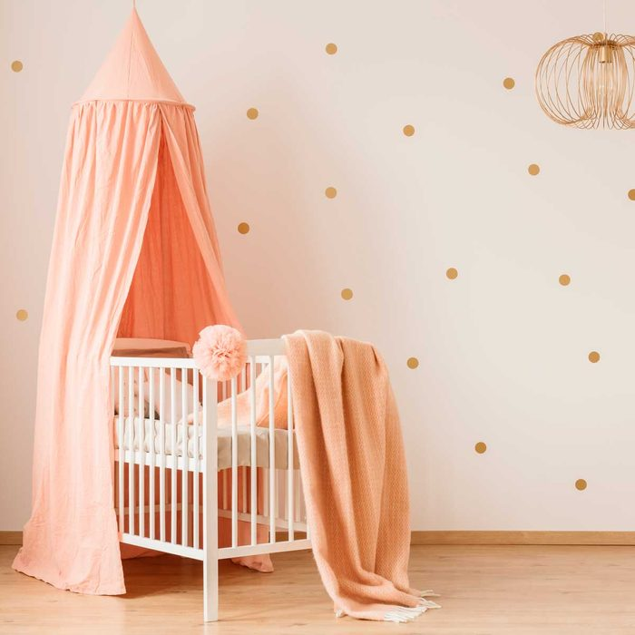 nursery dots on wall