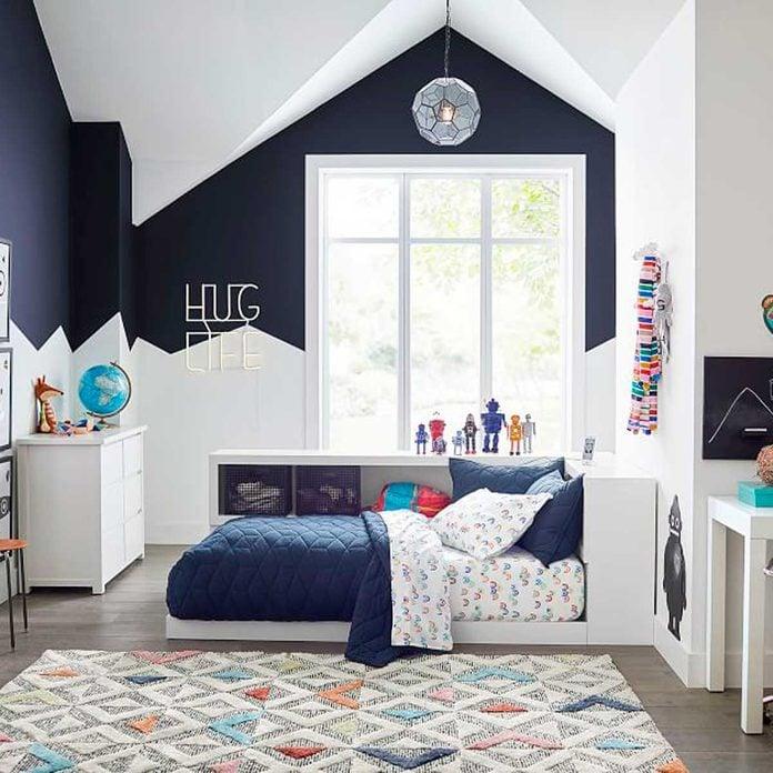 two-tone bedroom