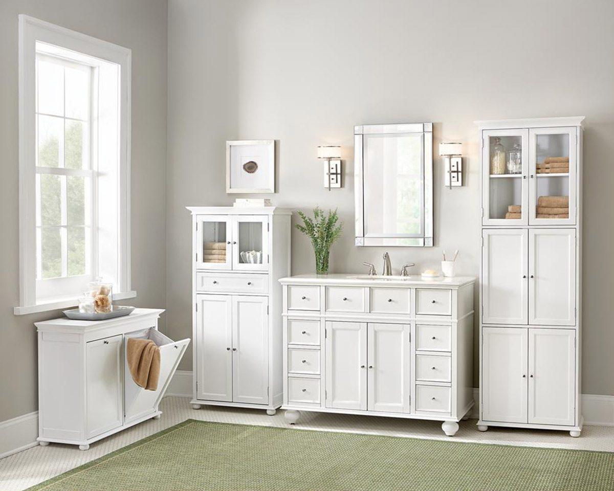 home depot linen closet bathroom storage and organization
