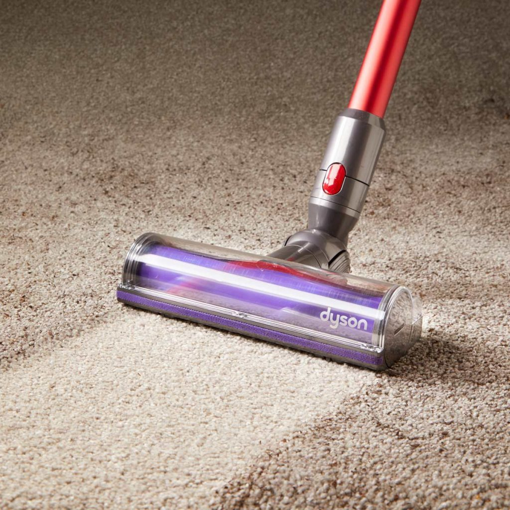 clean dirty carpet with dyson vacuum
