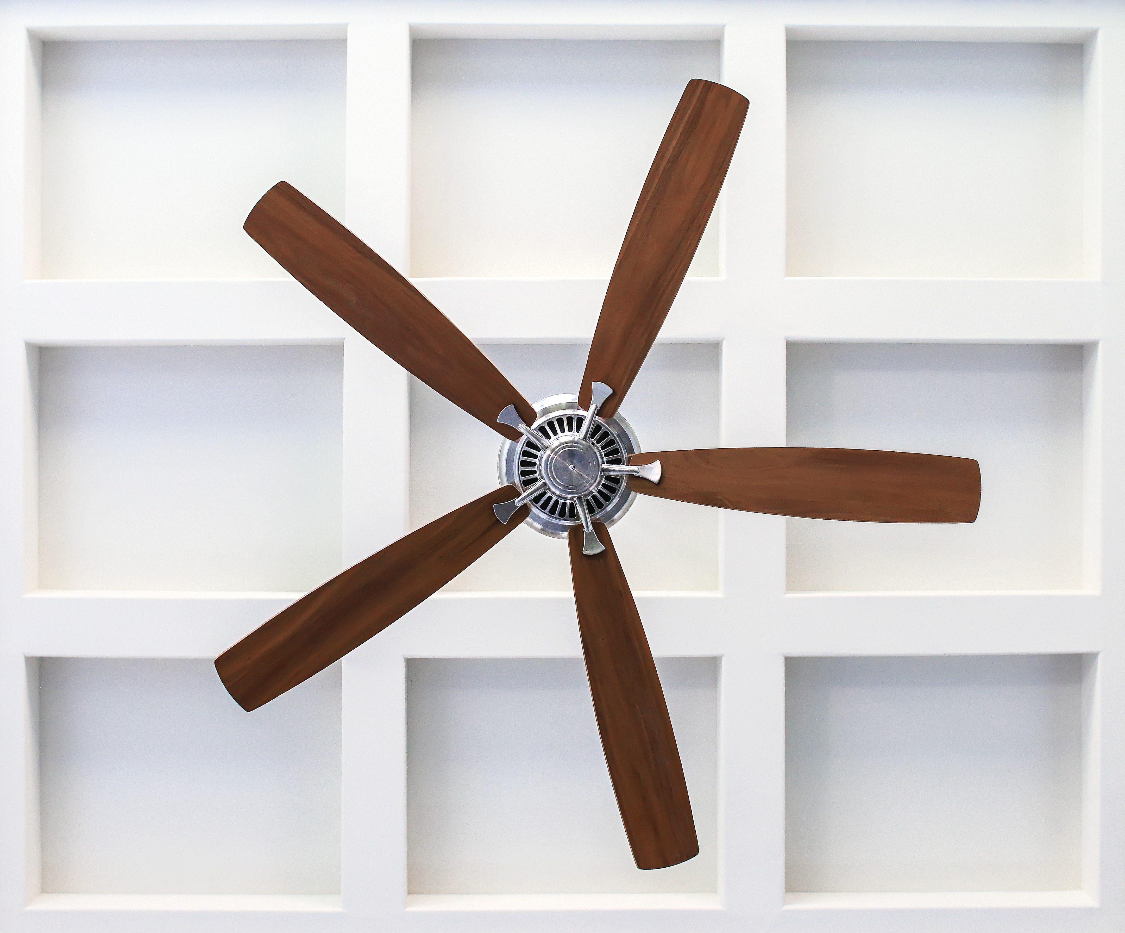 Fan on Box Beam Ceiling