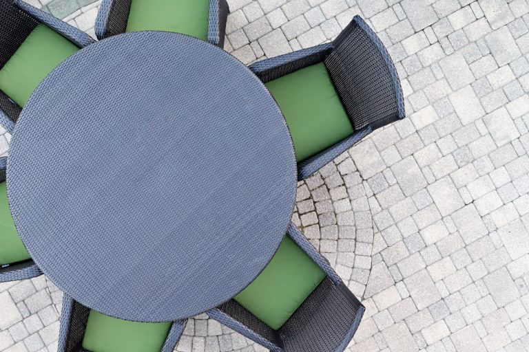 Six seater outdoor patio set