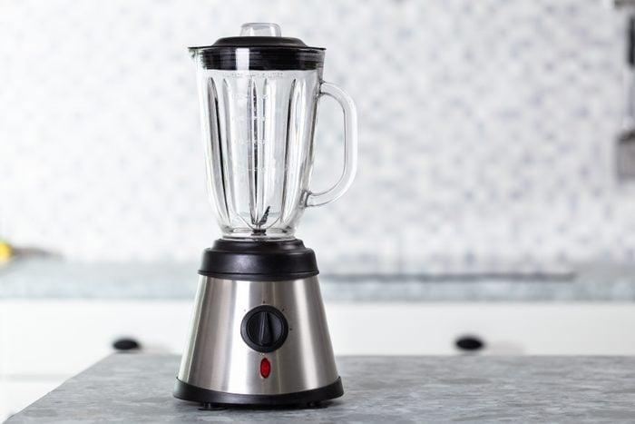 Empty Electric Blender On Modern Kitchen Worktop