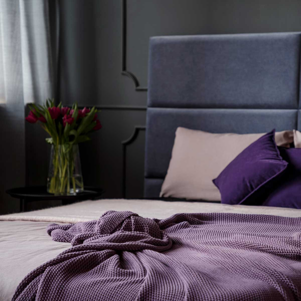 Purple and lavender bedroom