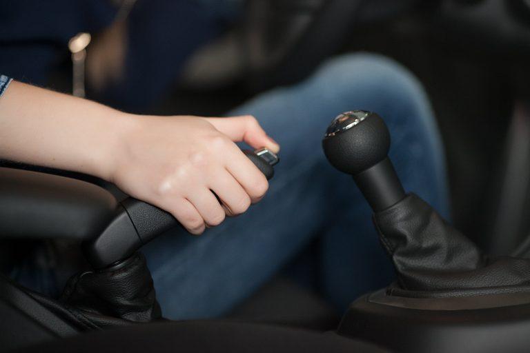 women are the handbrake and Parking Brake car
