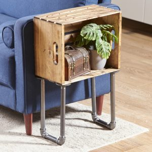 Transform an Old Crate into a Stylish Side Table