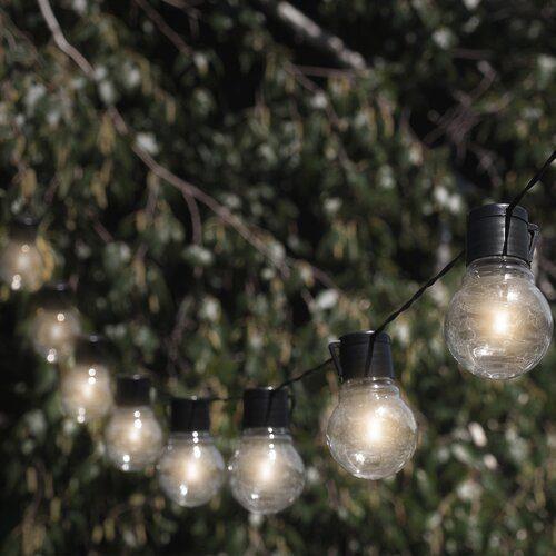outdoor solar globe string lights
