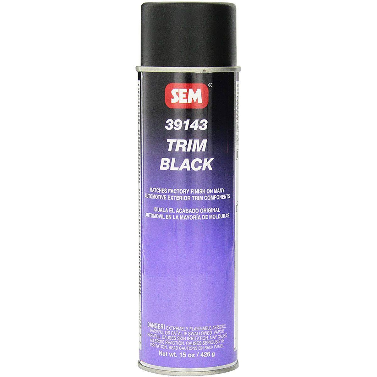 Can of black SEM paint