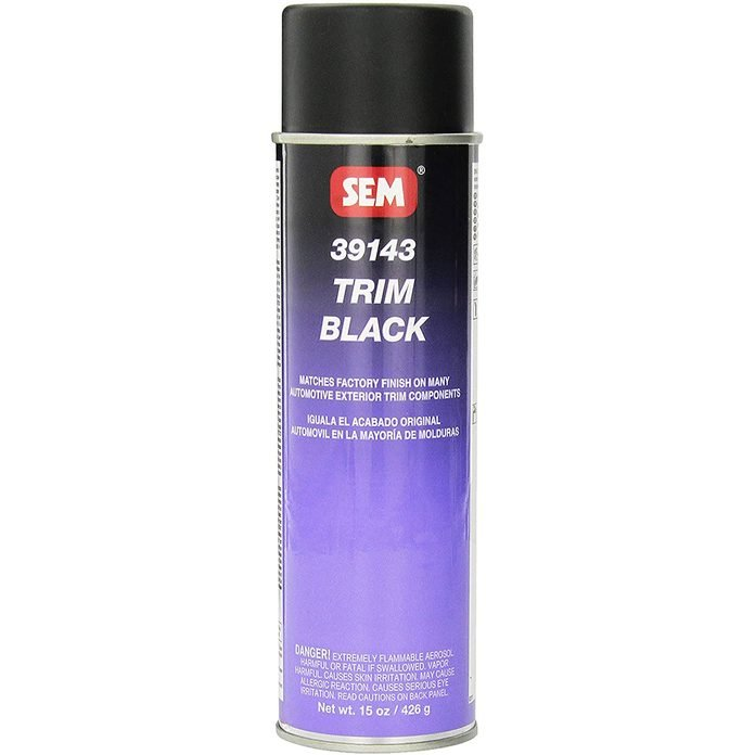 Can of black SEM paint