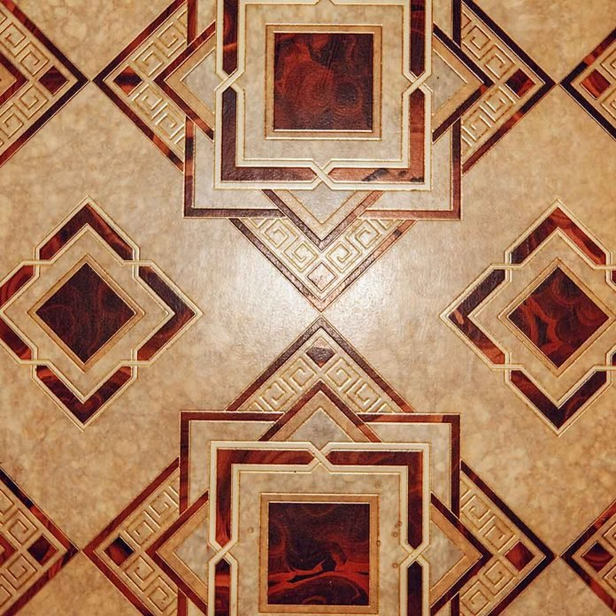 Brown geometric pattern linoleum